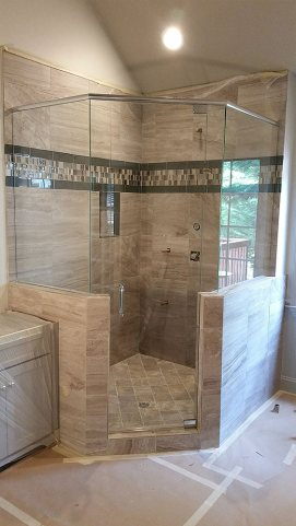 Frameless Shower Doors Enclosures, Alpharetta GA - Pinnacle Glass Co.