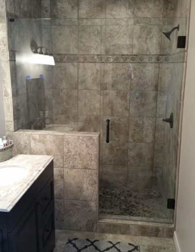 Inline Frameless shower Enclosures - Project 05