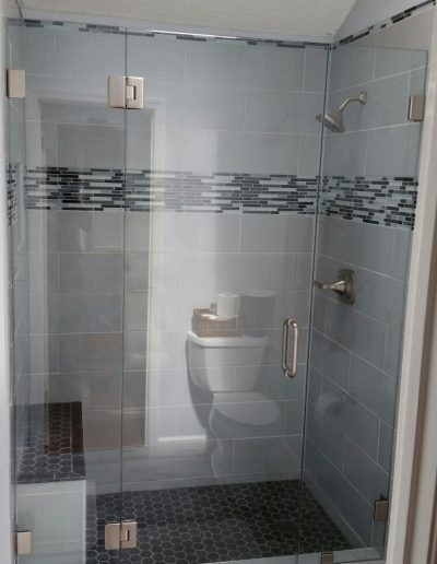 Inline Frameless shower Enclosures - Project 06