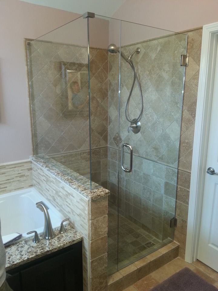 Right Angle Shower Enclosures - Frameless Shower Doors