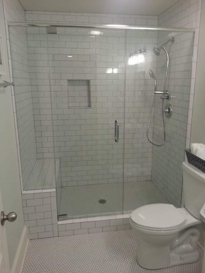 Inline Frameless Shower Enclosures   Project 04